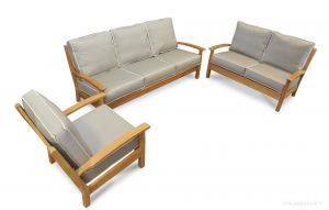 Set of Teak Deep Seating Club Chair (Chappy-1), Love Seat (Chappy-2) and 3 Seater Sofa (Chappy-3)