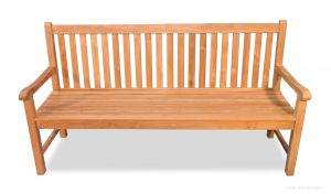 Teak Bench Block Island, 6 ft