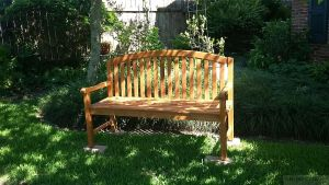 Teak Aquinah Bench 5ft - Backyard - Customer Photo