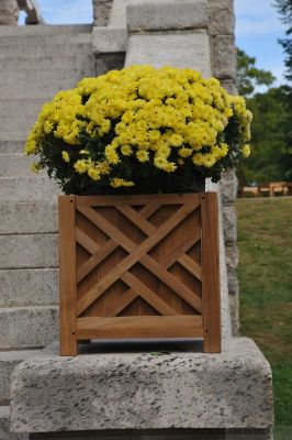 Teak Planter Chippendale 15 inch sq.