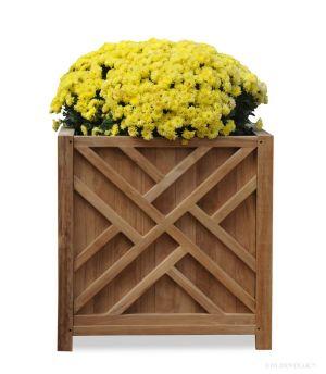 Teak Planter Chippendale 20.5 inch sq