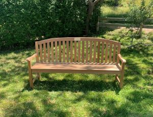 Teak Curved Top Bench - Aquinah 6 Ft - Goldenteak Customer Photo and Review