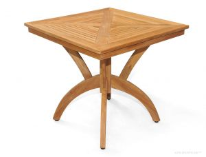 Teak Pedestal Dining Table 31 inch Sq - Root Design