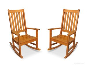 Teak Carolina Rocking Chair PAIR - SPECIAL
