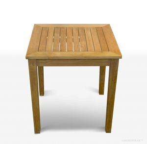 Teak End Table 24in Sq, 24in H for outdoors