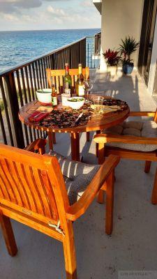 Teak Balcony Set Goldenteak Customer Photo