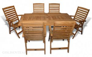 Teak Dining Set Sutton Table and 6 Salisbury Chairs