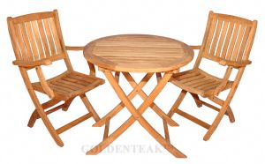 Teak Outdoor Dining Set for Balcony Condo