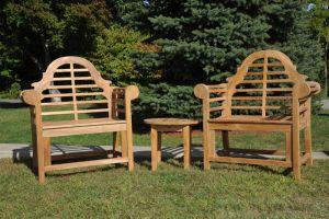 Teak Lutyens Chair Set of Two