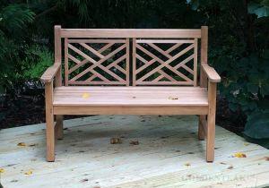 Teak Chippendale Bench in VA - customer photo