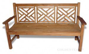 Outdoor Teak Chippendale Bench 5 ft. |  Premium Teak