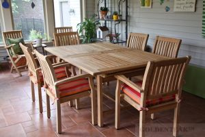 Teak Patio Set, Extension Table and Millbrook Chairs - IL - Customer Photo