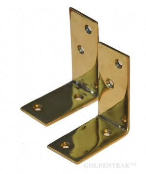 Brass Angle Bracket Pair for securing benches