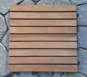 Teak Tile Slat Style 12 in Sq - box of 10