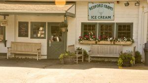 Teak Block Island Benches at Bedford Farms Ice Cream - customer photo