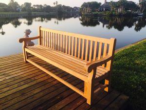 Teak Hyde Park Bench 8ft - Customer Photo