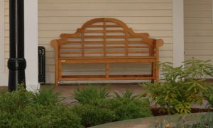 Teak Lutyens Bench Photo at Bank