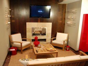 Goldenteak Teak Deep Seating, Teak Coffee Table as featured in TV Show Man Cave