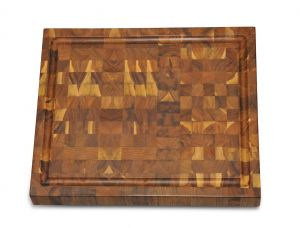Rectangular Cutting Board Teak End Grain 14 X 12 inches