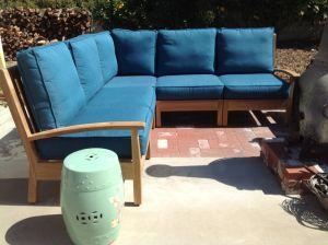 Teak Deep Seating Sectional Set CA - customer photo
