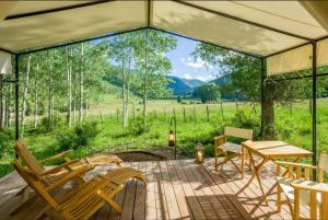 Teak Outdoor Furniture - Dunton River Glam Camping Colorado