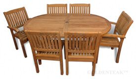 Teak Dining Set Captiva and Millbrook Chairs