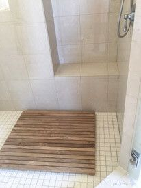 Teak Bath Mat 36 X 30 Goldenteak Review Customer Photo