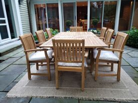 Teak Dining Set for 8 - Calais Collection - Natural Teak