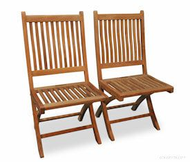 Teak Folding Rockport Chair (PAIR) without Arms