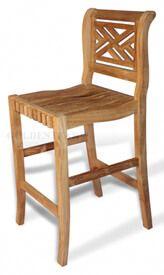 Teak Bar Chair Chippendale
