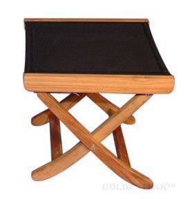 Teak and Sling Footstool 2 position
