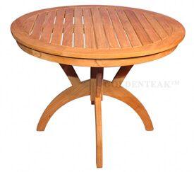 Teak Round Pedestal table 36 inch Dia - Root Design