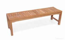 Teak Backless Bench Rosemont 5ft |  Premium Teak