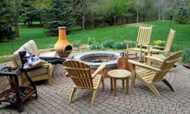 Teak Firepit Conversation Set - Customer Photo - Goldenteak