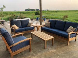 Teak Deep Seating Set with Mission Coffee Table - Customer Photo Goldenteak