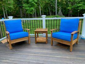Teak Deep Seating Club Chair Set - Goldenteak Customer Photo