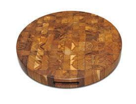 Teak End Grain Cutting Board 12 in dia