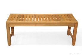 Teak Backless Shower Bench 4ft