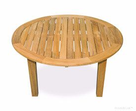 Teak Round Coffee Table 36 inch Dia, 17 in H
