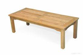 Teak Mission Coffee Table Large