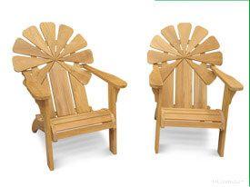Teak Adirondack Chair Petals - PAIR