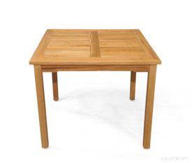 Teak 48 inch Square Bistro Table   GTB1-122