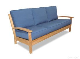 Teak Deep Seating Outdoor Sofa, Chappy Collection with cushions
