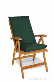 Teak Recliner Seat and Back Cushion Set