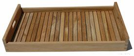 Versatile Teak Serving tray 23.75 in X 14.75 in X 2.75 in