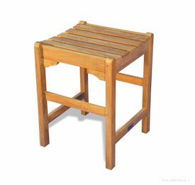 Teak Counter Height Stool 24 H X 18 Sq inch