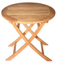 Teak Balcony Table 30 inch Dia