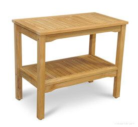 Teak Small Console Table