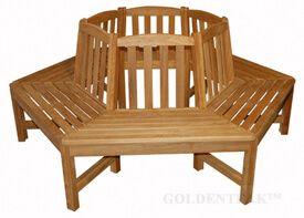 Teak Bench  Tree Bench Hexagon (6 Sides)