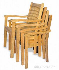 Tisbury Teak Stacking Chair set of 4